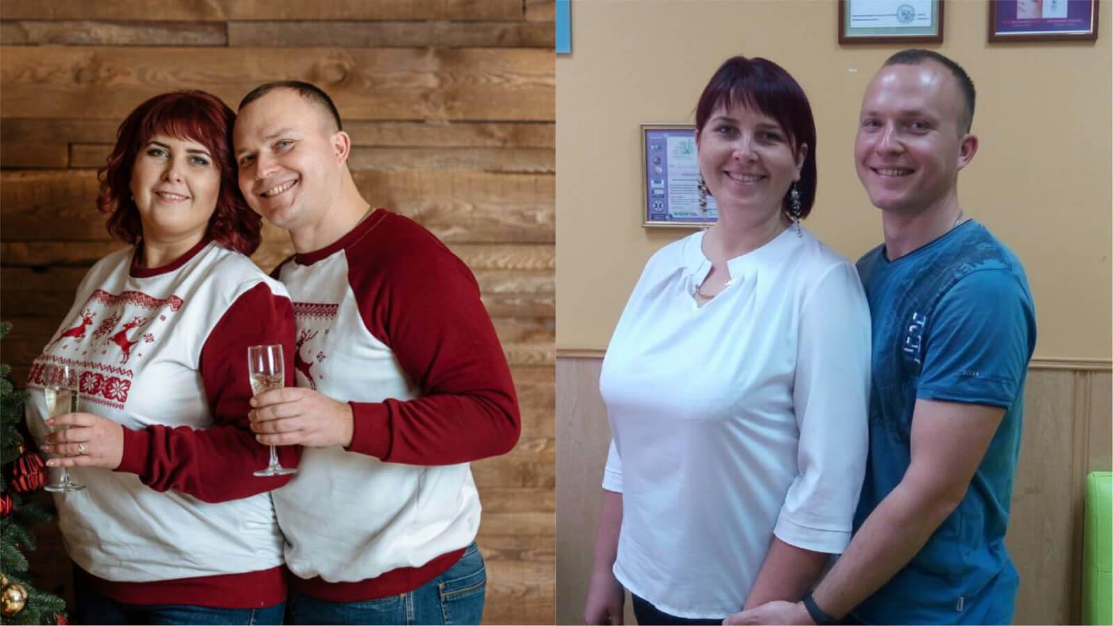 Результаты до и после, семья Гевленко
