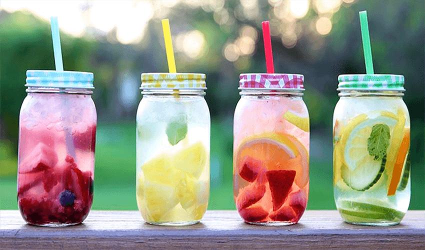 роль питьевого режима: фруктовая вода