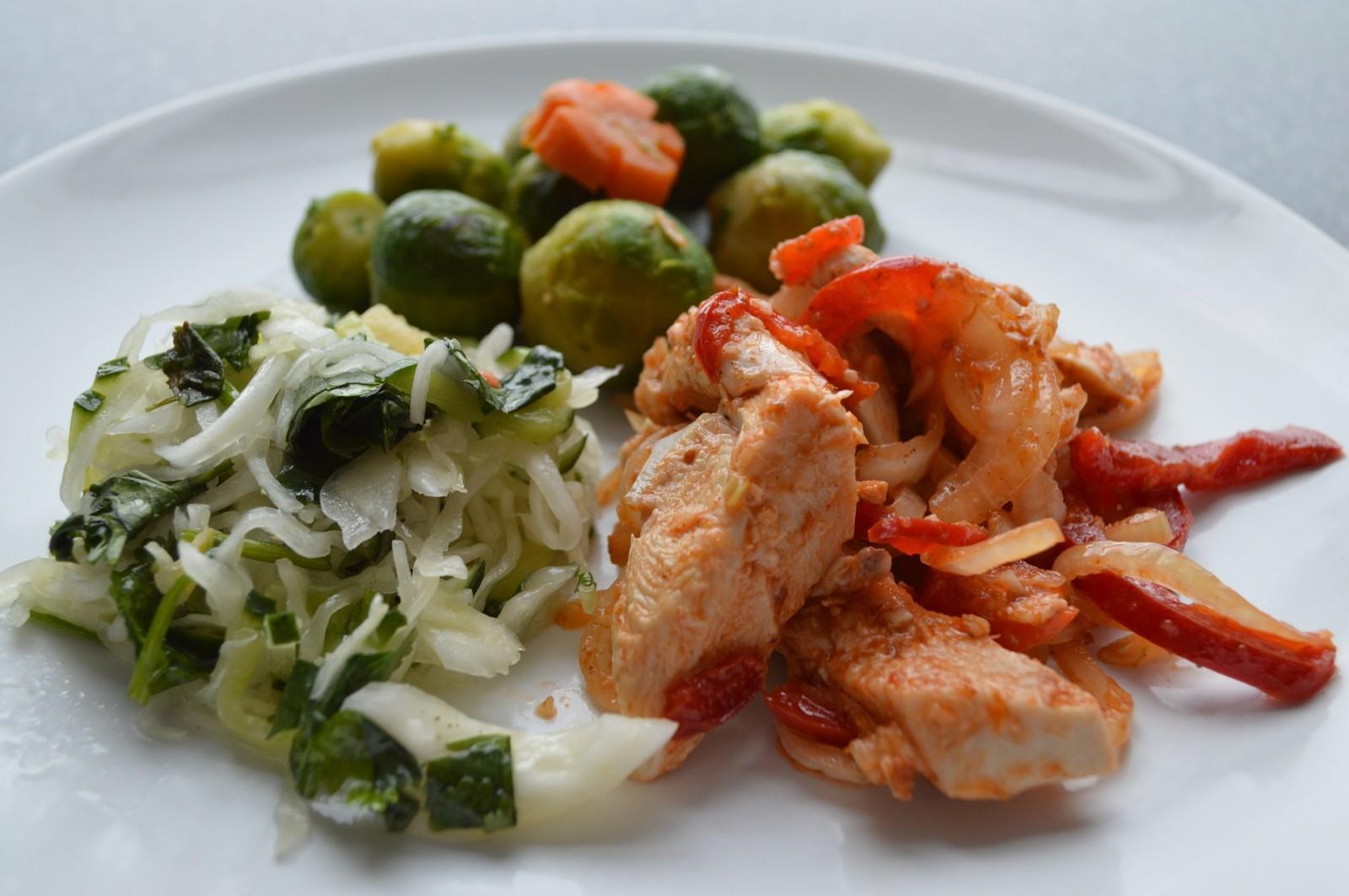 разгрузочный день : мясо плюс овощи